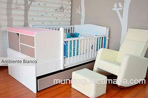 ambiente bianco cama cuna para beb with mobiliario para bebe