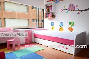 ambiente violeta camas para nias